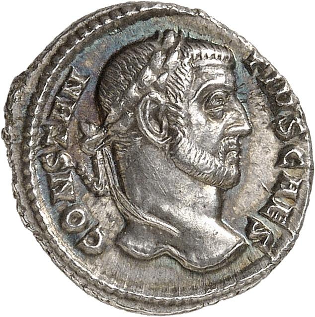 EMPIRE ROMAIN Constance Chlore (293-305). Argenteus, Rome.