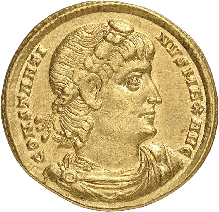 EMPIRE ROMAIN Constantin Ier (307-337). Solidus, 336, Constantinople.