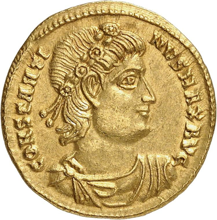 EMPIRE ROMAIN Constantin Ier (307-337). Solidus, Thessalonique.