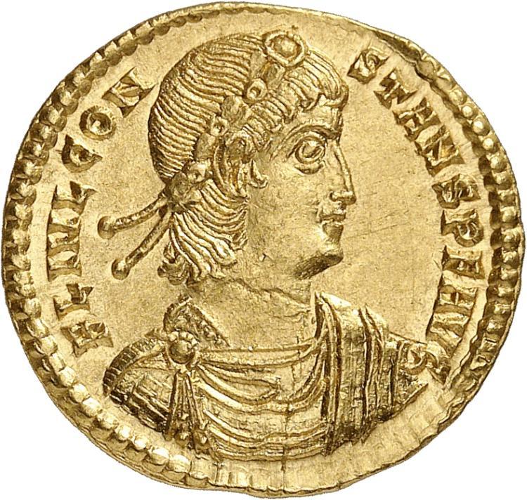 EMPIRE ROMAIN Constans (337-350). Solidus, Thessalonique.