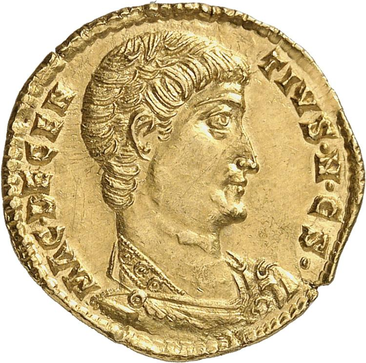 EMPIRE ROMAIN Décence (350-353). Solidus 351-352, Rome.