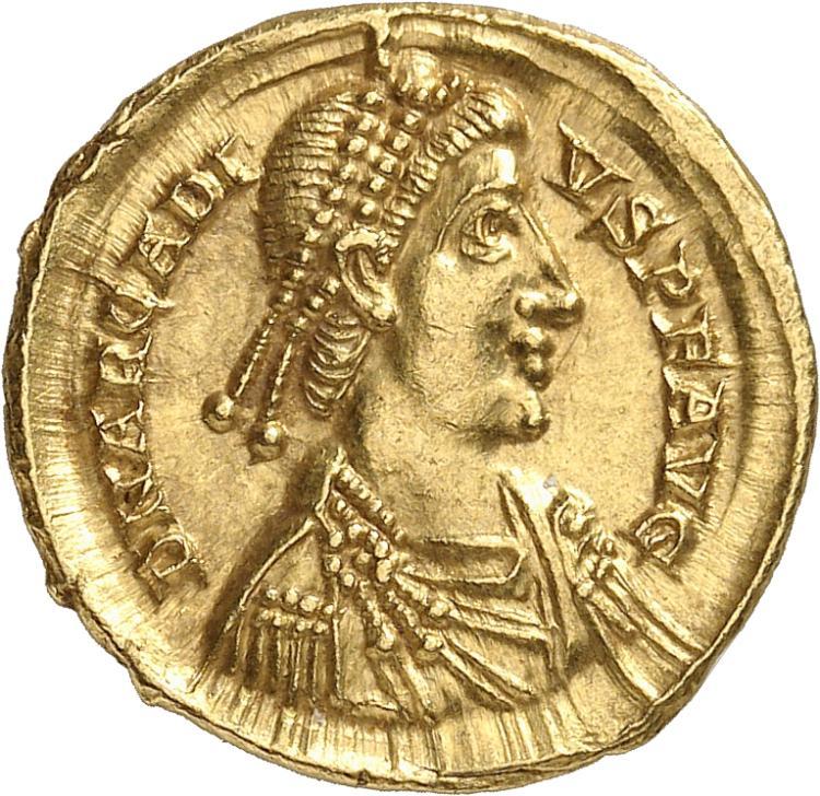 EMPIRE ROMAIN Arcadius (383-408). Solidus, Milan.