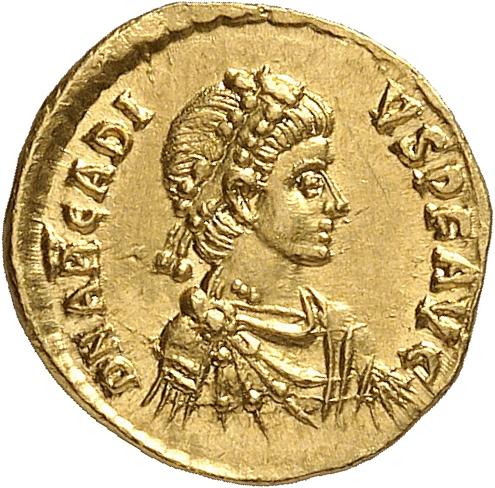EMPIRE ROMAIN Arcadius (383-408). Tremissis, Constantinople.