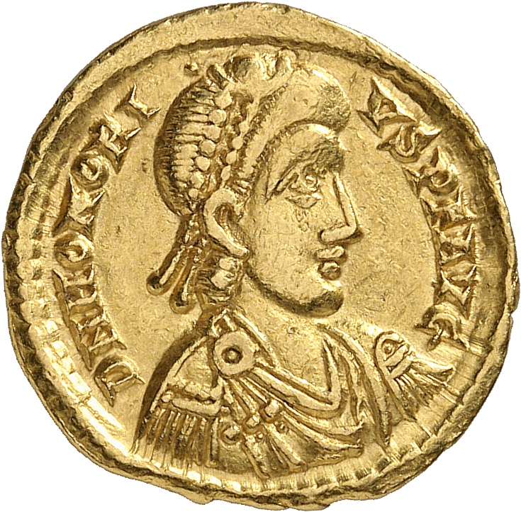 EMPIRE ROMAIN Honorius (393-423). Solidus, Ravenne.