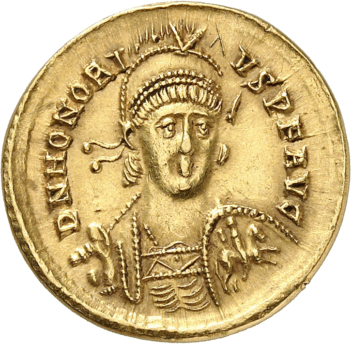 EMPIRE ROMAIN Honorius (393-423). Solidus, Constantinople.