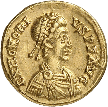 EMPIRE ROMAIN Honorius (393-423). Tremissis, Ravenne.