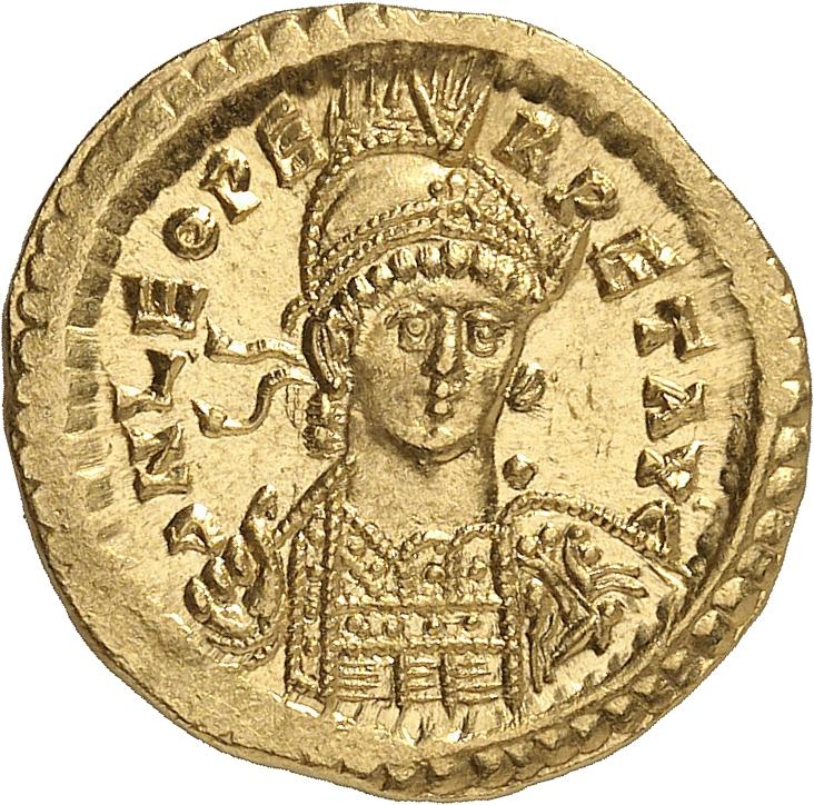 EMPIRE ROMAIN Léon Ier (457-474). Solidus, Constantinople.