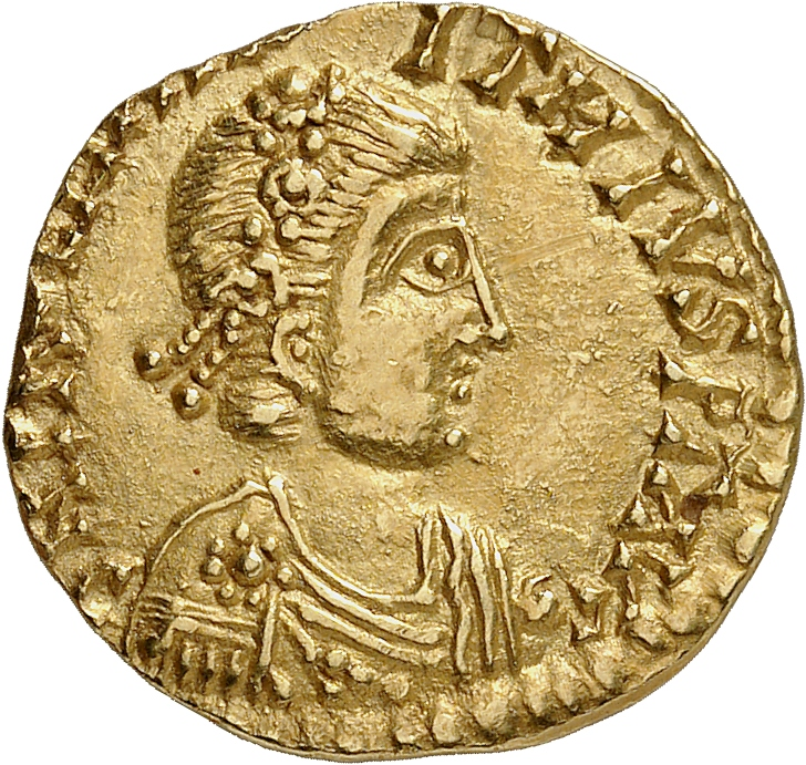 EMPIRE ROMAIN Anthême (467-472). Solidus 467, Ravenne.