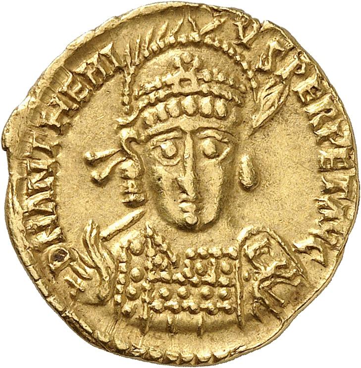 EMPIRE ROMAIN Anthême (467-472). Solidus, Milan.