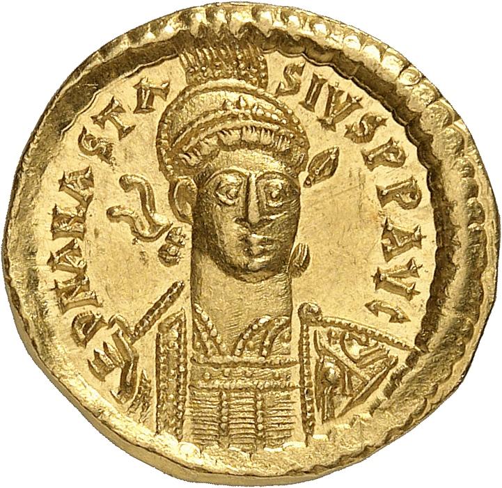 EMPIRE BYZANTIN Anastase (491-518). Solidus, Constantinople.