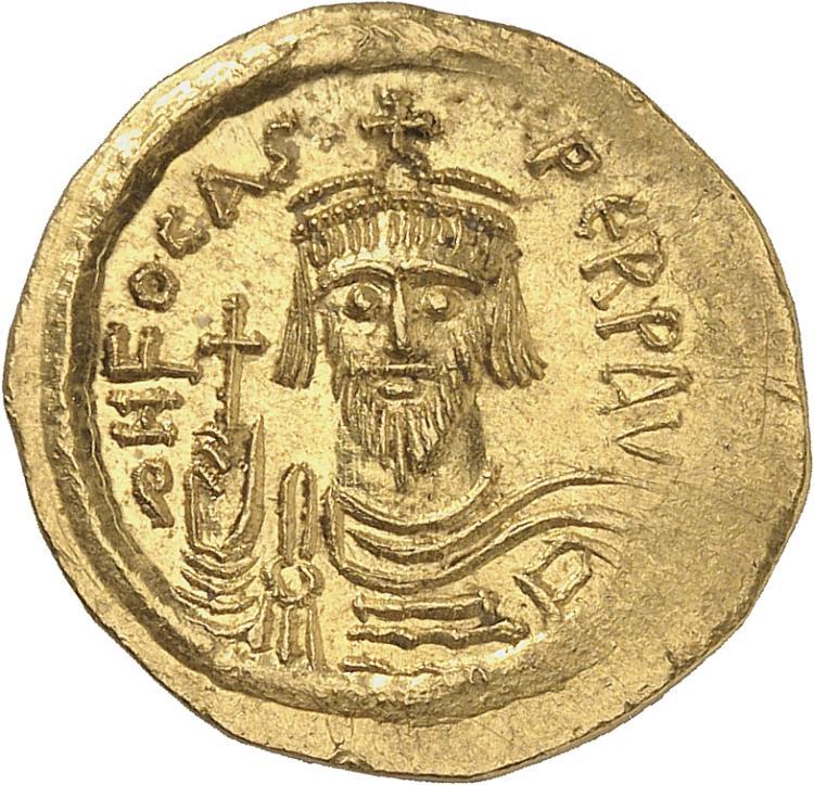 EMPIRE BYZANTIN Phocas (602-610). Solidus, Constantinople.