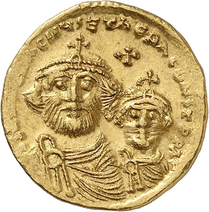 EMPIRE BYZANTIN Héraclius (610-641). Solidus, Constantinople.