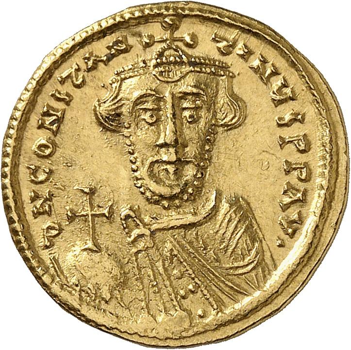 EMPIRE BYZANTIN Constant II (641-668). Solidus, 646-647, Constantinople.