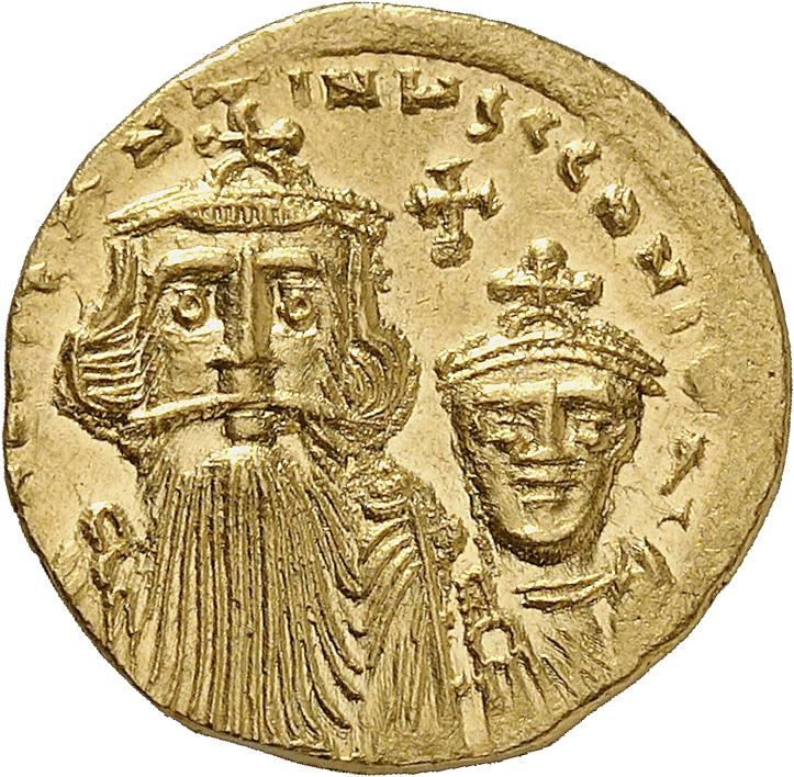 EMPIRE BYZANTIN Constance II et Constance IV (654-659). Solidus, Constantinople.