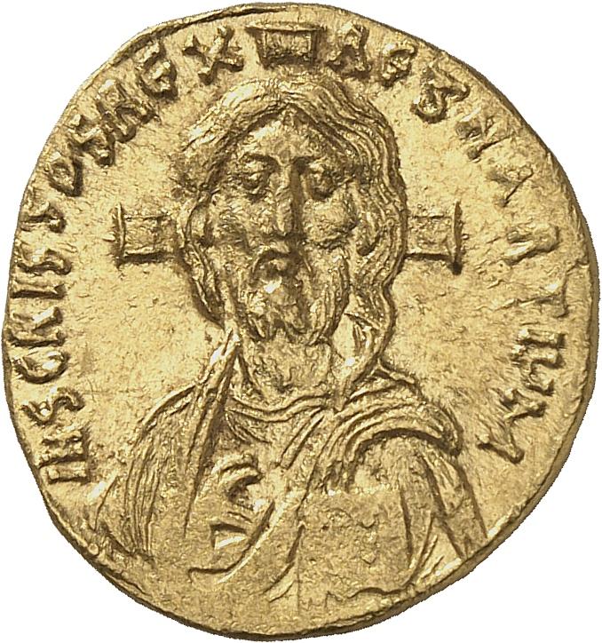 EMPIRE BYZANTIN Justinien II (685-695). Solidus 692-695.