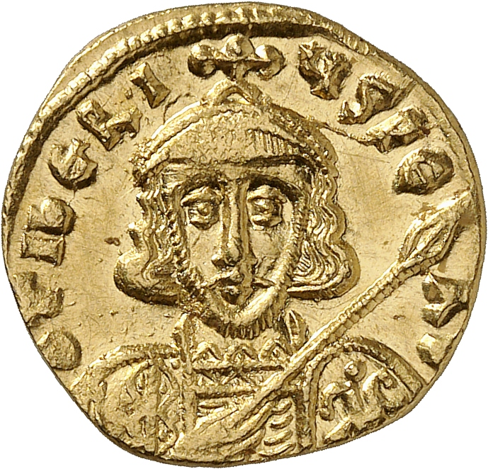 EMPIRE BYZANTIN Tibère III (698-705). Solidus, Constantinople.