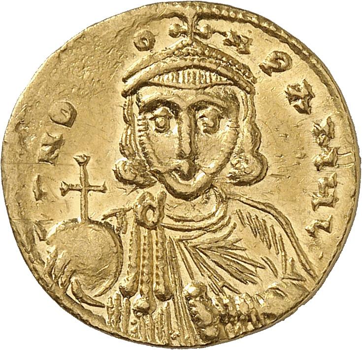 EMPIRE BYZANTIN Léon III (717-741). Solidus, Constantinople.