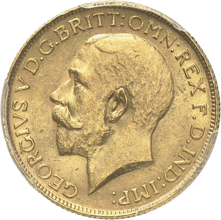 AFRIQUE DU SUD Georges V (1910-1936). Souverain 1924, Pretoria.