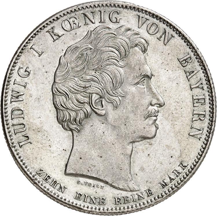 ALLEMAGNE Bavière, Louis Ier (1825-1848). Thaler 1826, frappé pour célébrer le mémorial de Louis-Maximilien.