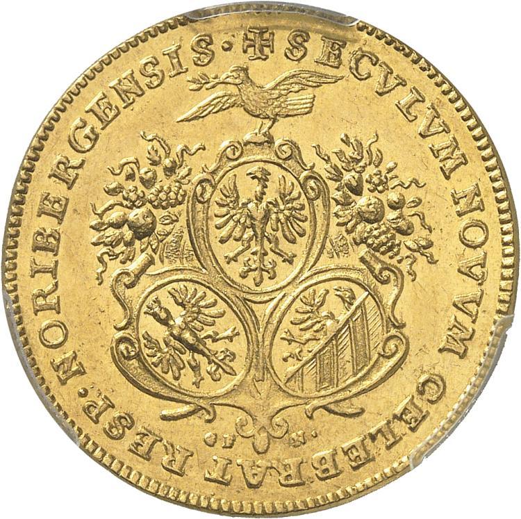 ALLEMAGNE Nuremberg, ville libre. 2 ducats 1700.