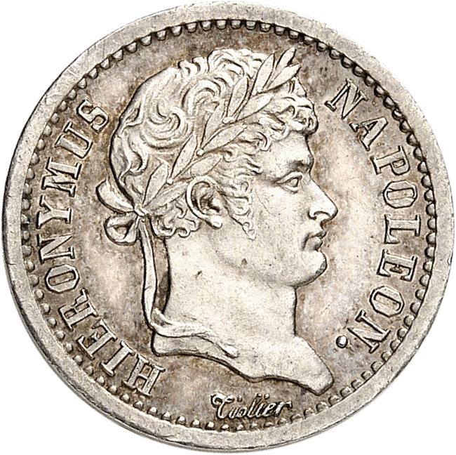 ALLEMAGNE Westphalie, Jêrome Napoléon (1807-1813). 1/2 franken 1808, Paris.