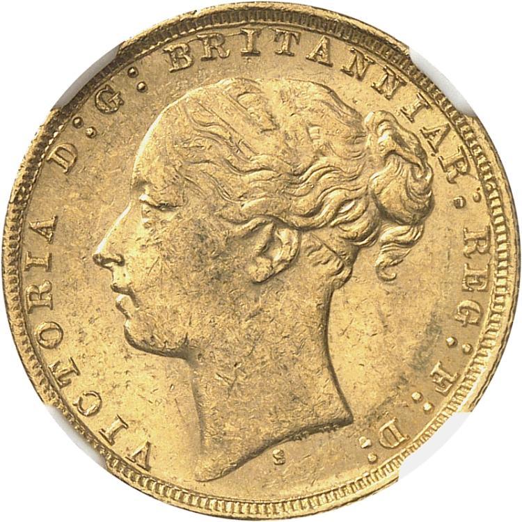 AUSTRALIE Victoria (1837-1901). Souverain 1879, Sydney.