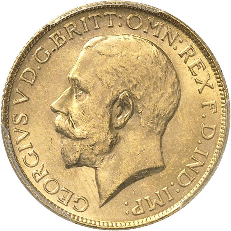 AUSTRALIE Georges V (1910-1936). Souverain 1923, Melbourne.
