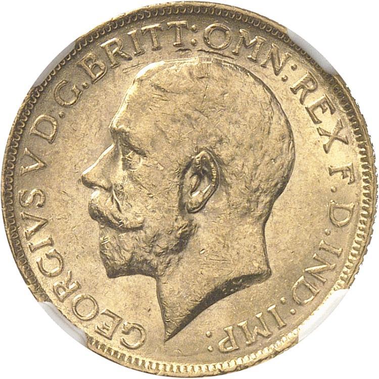 AUSTRALIE Georges V (1910-1936). Souverain 1928, Melbourne.