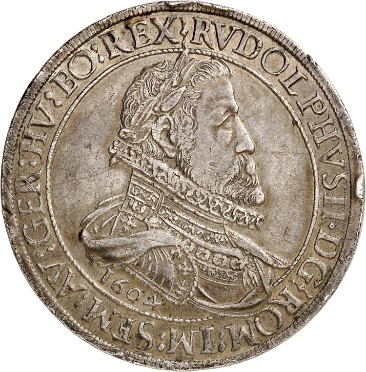 AUTRICHE Saint-Empire, Rodolphe II (1576-1612). Double thaler 1604, Hall.