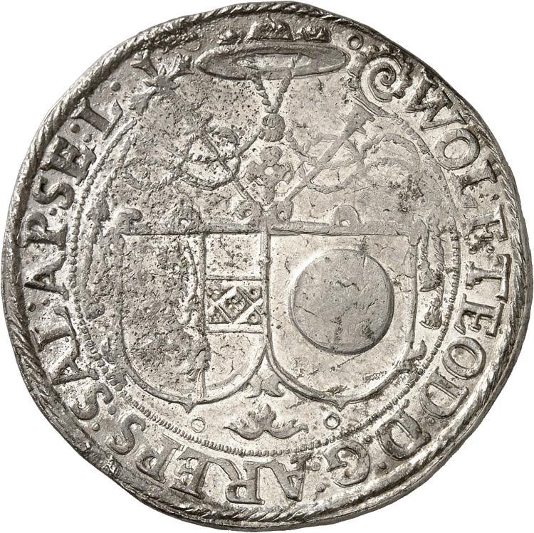 AUTRICHE Salzbourg, Wolf Dietrich de Raitenau (1587-1612). Thaler non daté.