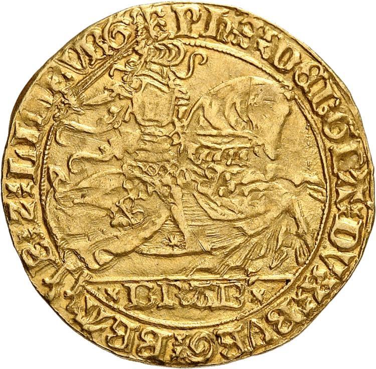 BELGIQUE Brabant, Philippe le Bon duc de Bourgogne (1434-1467). Cavalier d'or 1434-1437, Bruxelles.