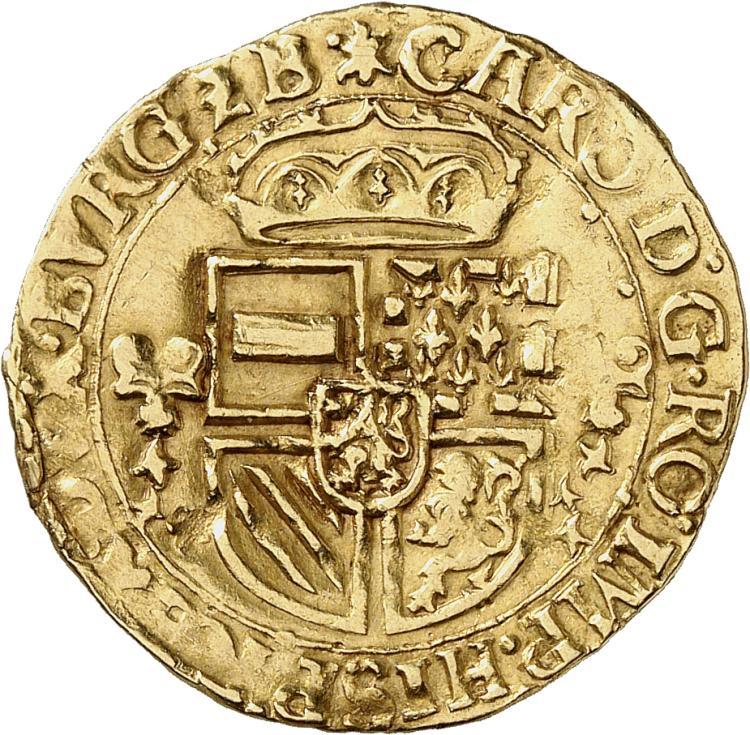 BELGIQUE Brabant, Charles Quint (1506-1555). Écu d'or, (15)54.