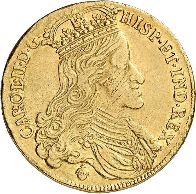 BELGIQUE Brabant, Charles II (1665-1700). Double souverain 1692, Bruxelles.