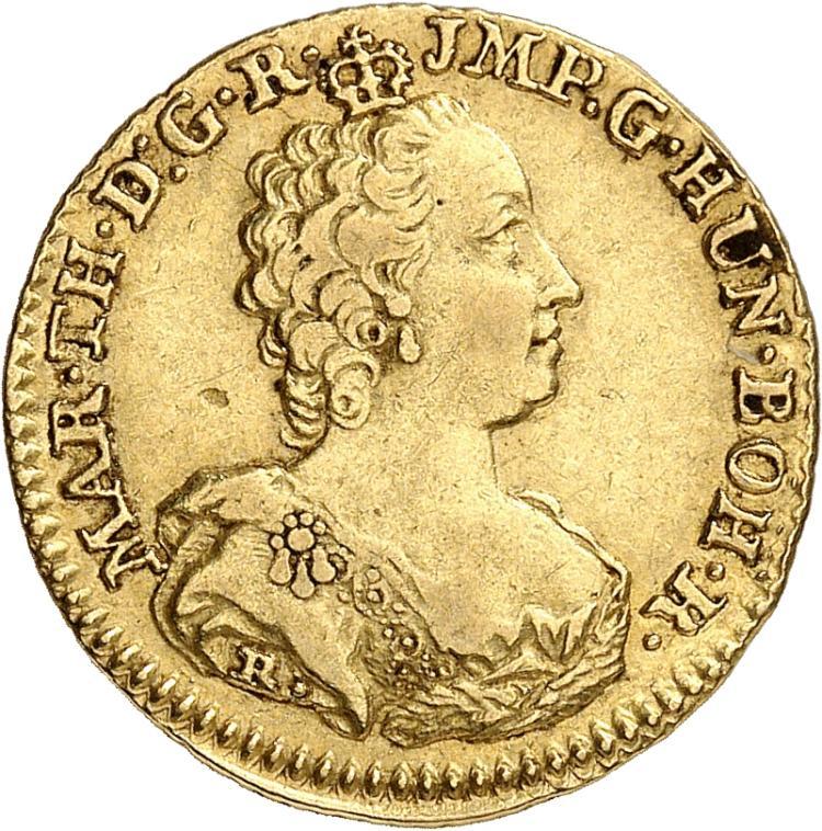 BELGIQUE Brabant, Marie-Thérèse (1740-1790). Souverain 1753, Anvers.