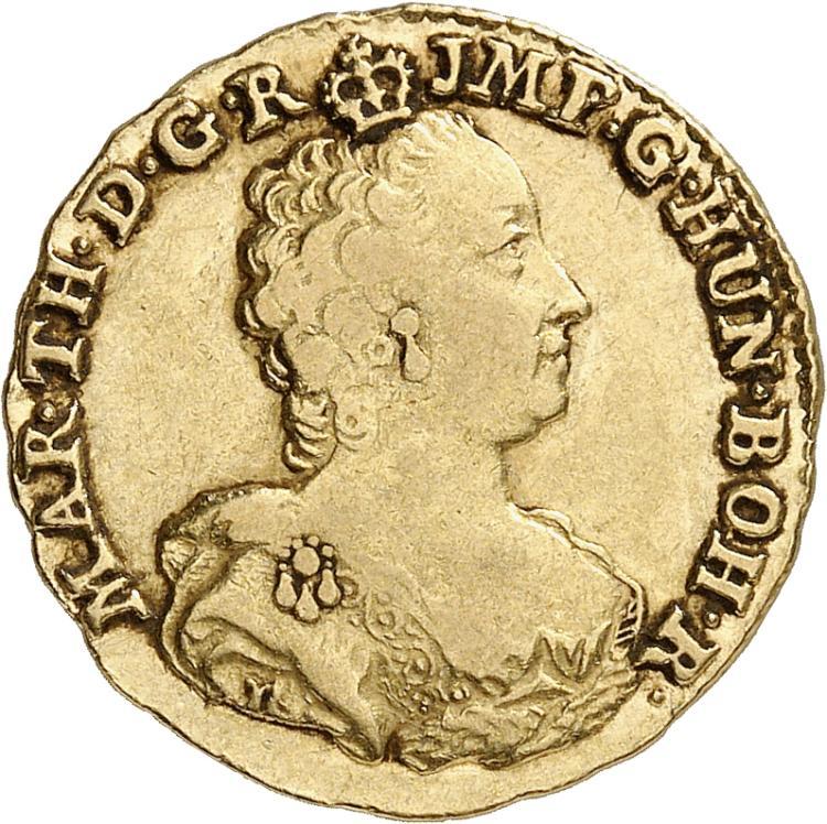 BELGIQUE Brabant, Marie-Thérèse (1740-1790). Souverain 1753, Bruges.