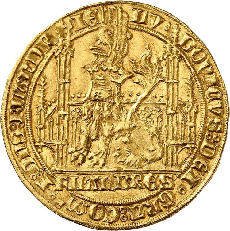 BELGIQUE Flandres, Louis de Male (1346-1384). Lion heaumé, Gand.