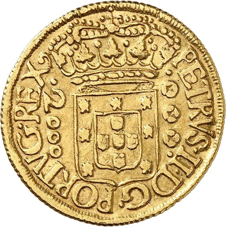 BRÉSIL Pierre III (1683-1706). 2.000 Reis 1699, Rio de Janeiro.
