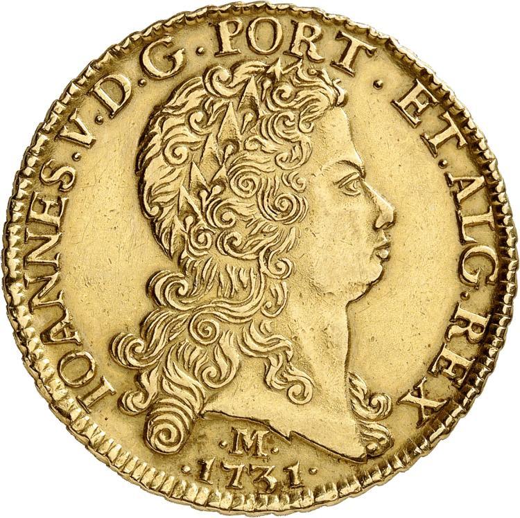 BRÉSIL Jean V (1706-1750). 12.800 Reis 1731, Minas Gerais.