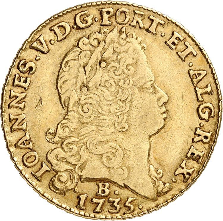 BRÉSIL Brésil, Jean V (1706-1750). 6.400 Reis 1735, Bahia.