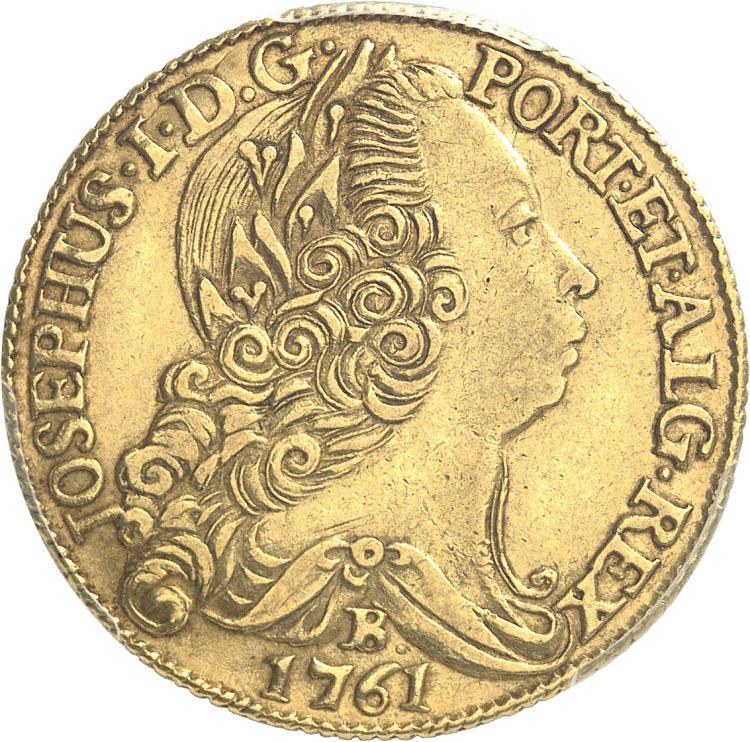BRÉSIL Brésil, Joseph Ier (1761-1788). 6.400 Reis 1761, Bahia.