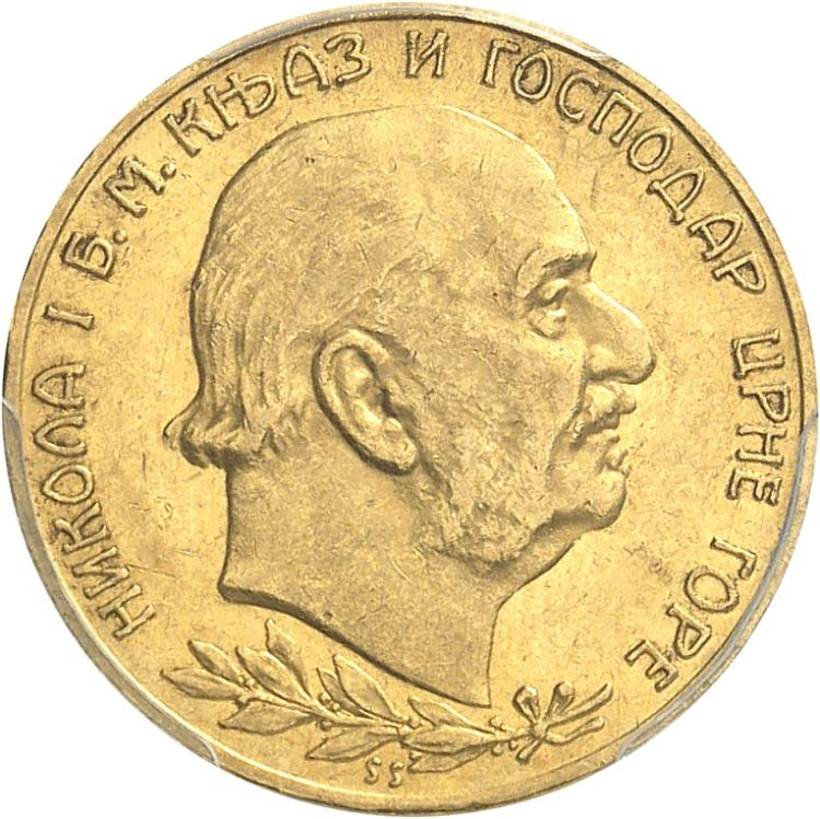 MONTÉNÉGRO Nicolas Ier (1910-1918). 20 perpera 1910, Vienne.