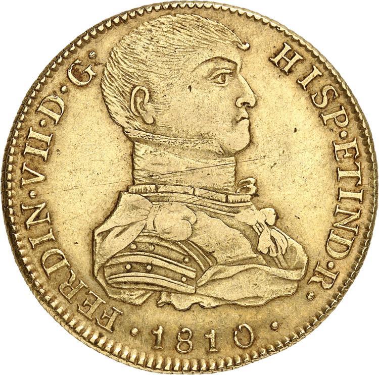 PÉROU Ferdinand VII (1808-1824). 8 escudos 1810 Lima.