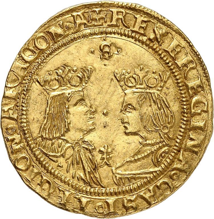 ESPAGNE Ferdinand et Isabelle (1474-1504). Double excellente, Séville.