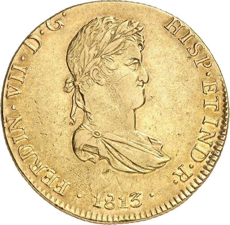 PÉROU Ferdinand VII (1808-1824). 8 escudos 1813, Lima.