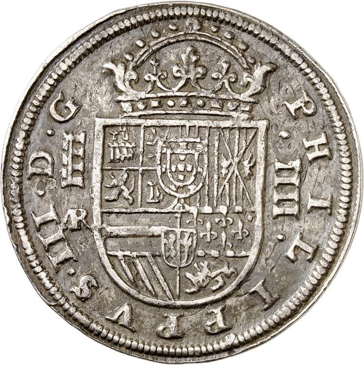 ESPAGNE Philippe III (1598-1621). 4 Réales 1614, Ségovie.