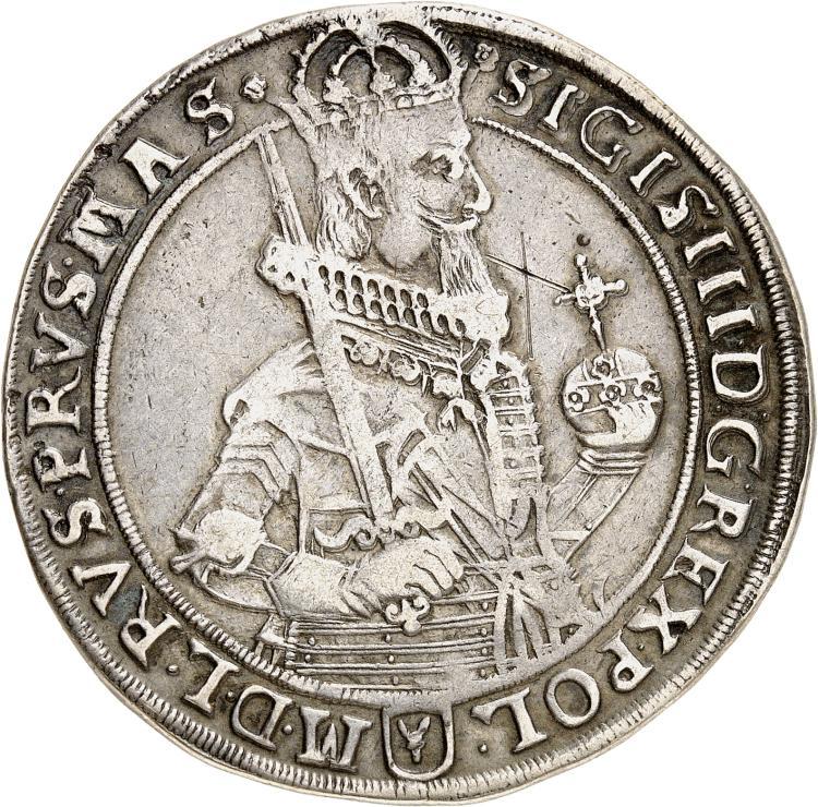 POLOGNE Sigismond III (1587-1632). Thaler 1631.