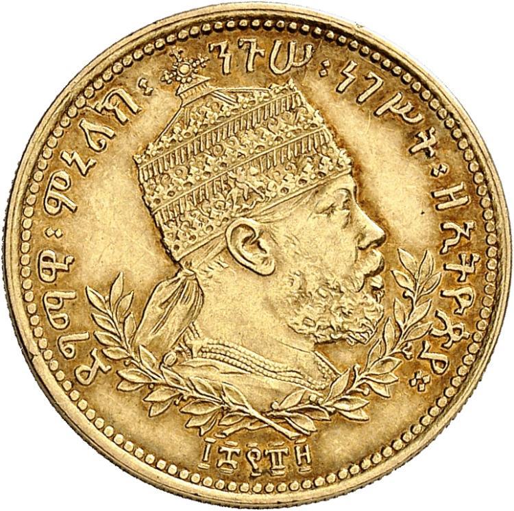ÉTHIOPIE Ménélik II (1889-1913). Werk 1889 (1897), Addis Abeba.