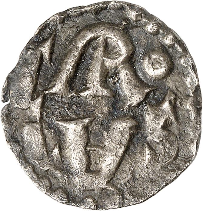 FRANCE Carolingiens. Charlemagne (768-814). Denier, Limoges.