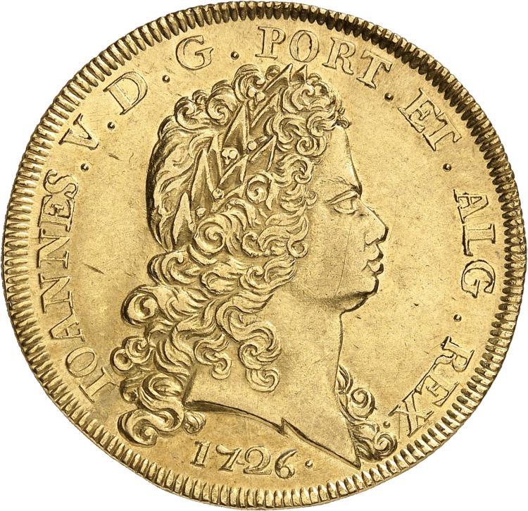 PORTUGAL Jean V (1706-1750). Dobra 1726, Lisbonne.