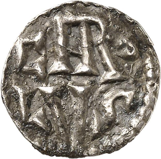 FRANCE Carolingiens. Charlemagne (768-814). Denier, Aix-la-Chapelle.